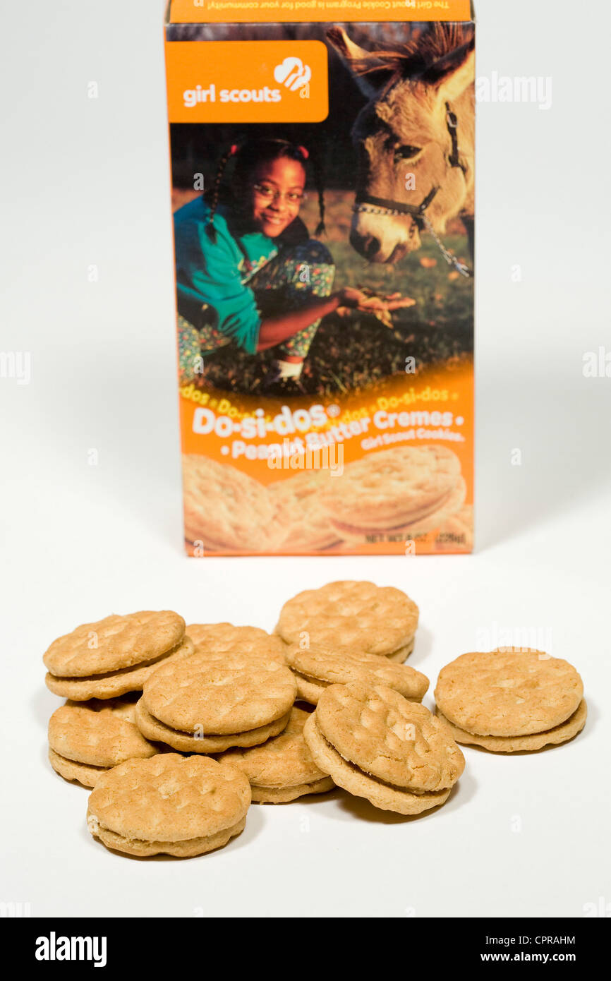 Do-si-dos Girl Scout cookies.  - Stock Image