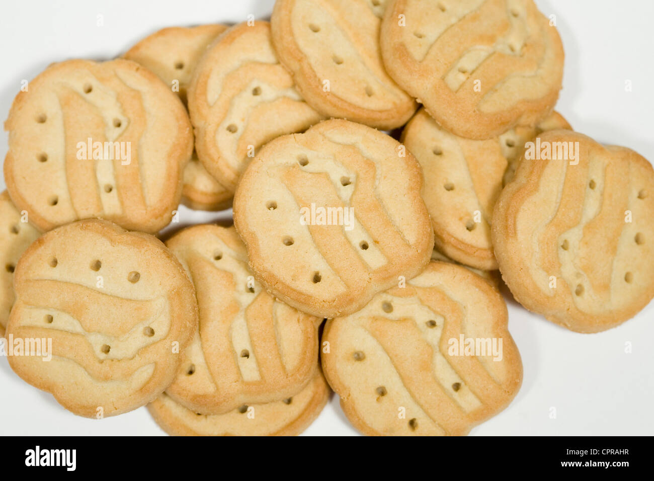 Trefoils Girl Scout cookies.  Stock Photo