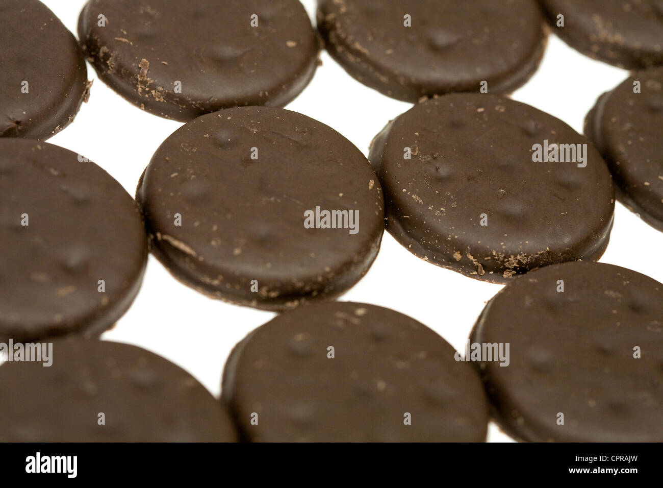 A box of Thin Mints Girl Scout cookies.  - Stock Image