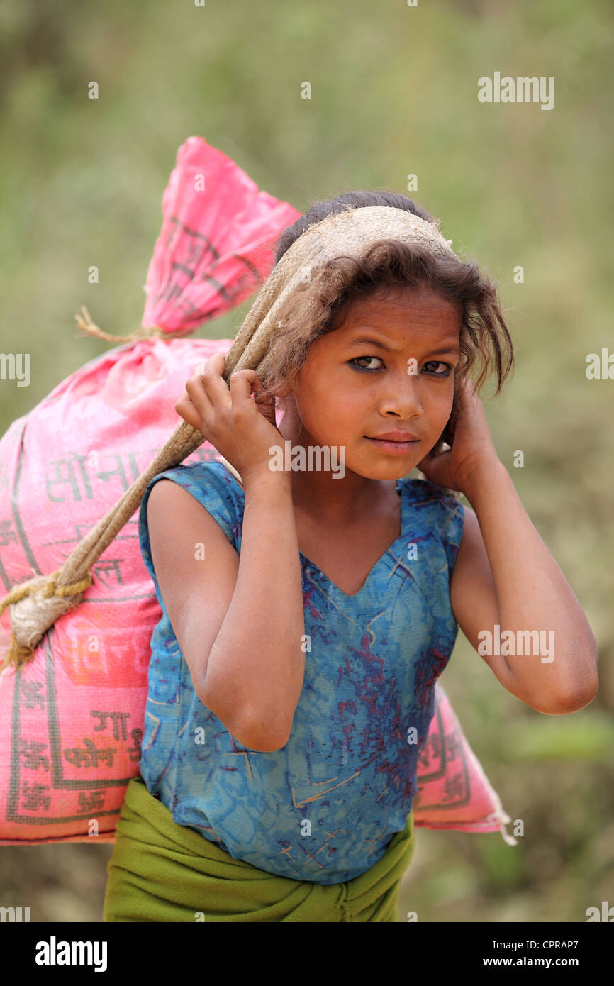Nepali girl - Stock Image