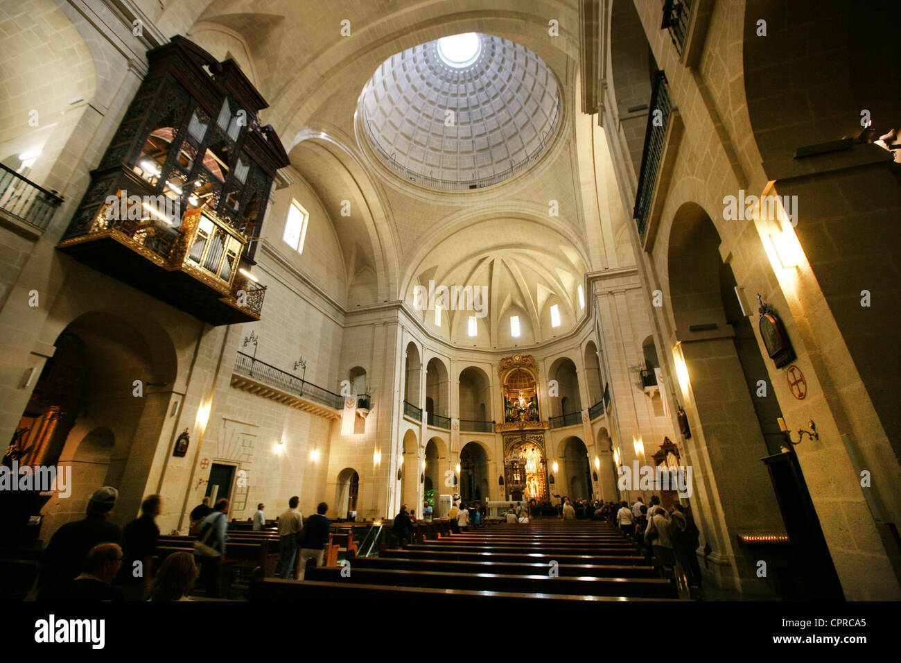 Europe Spain Alicante Cathedral de San Nicolas - Stock Image