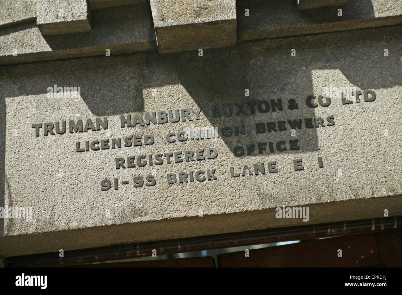 Old Truman Brewery, Brick Lane London E1 Stock Photo