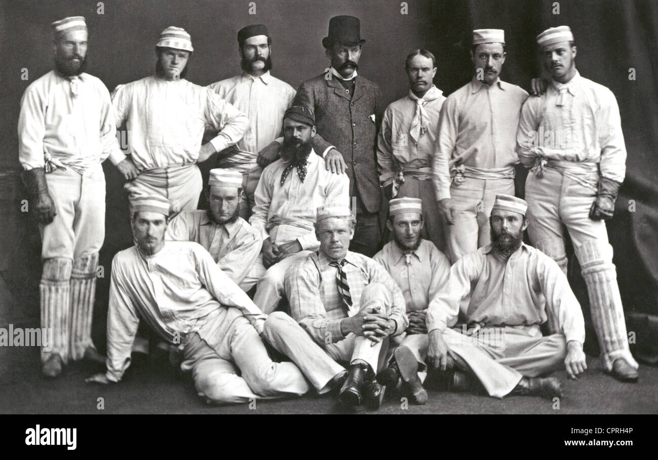 AUSTRALIAN TEST CRICKET TEAM of 1878 - Stock Image