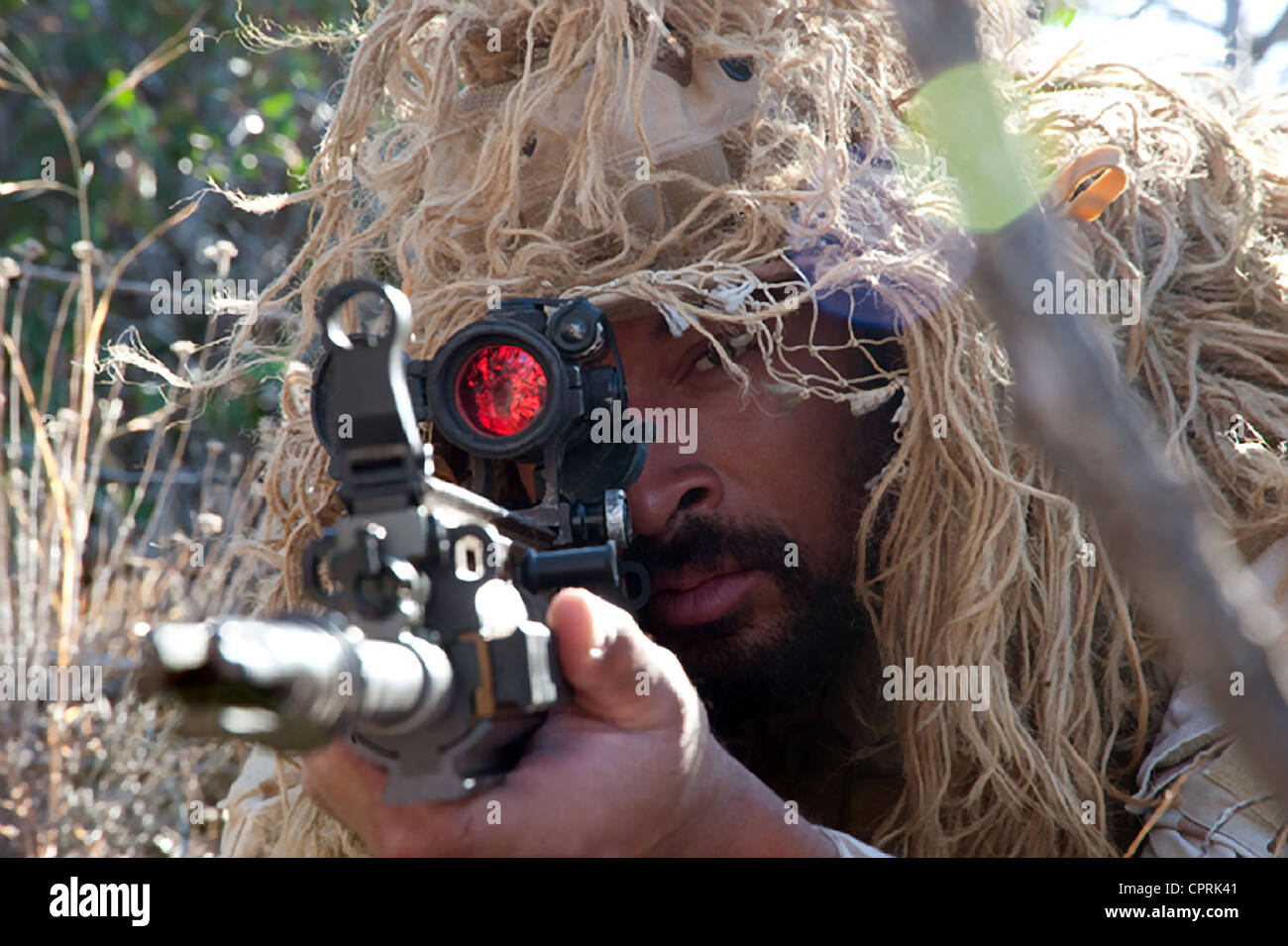 US Navy SEALs during sniper combat training - Stock Image