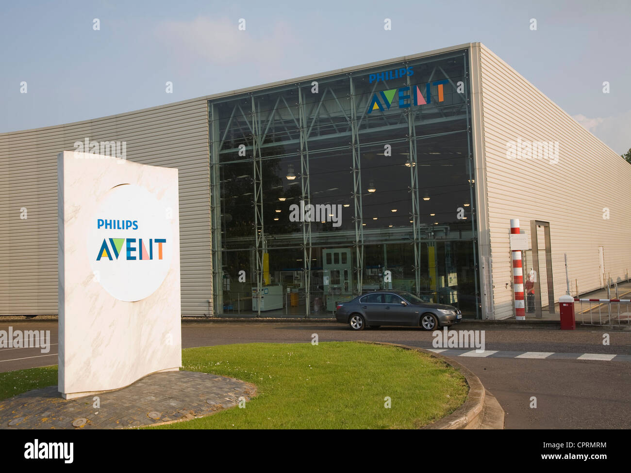 Philips Avent factory Glemsford Suffolk England - Stock Image