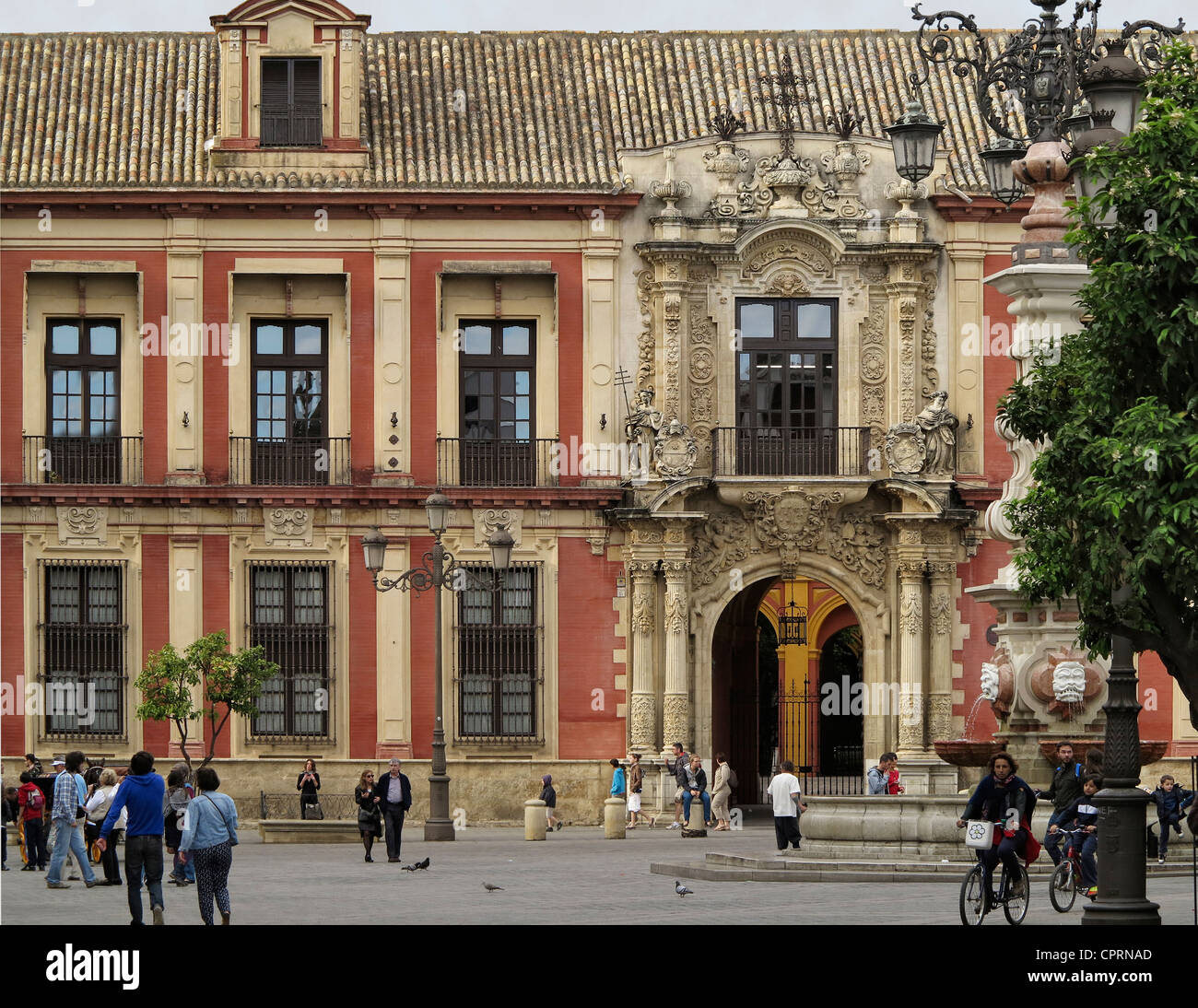 Archbishop Palace in Seville Spain - Stock Image