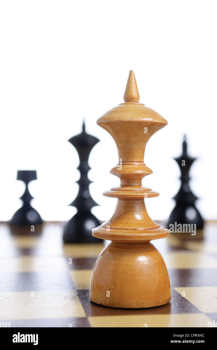 Chess Board With Figures - Stock Image