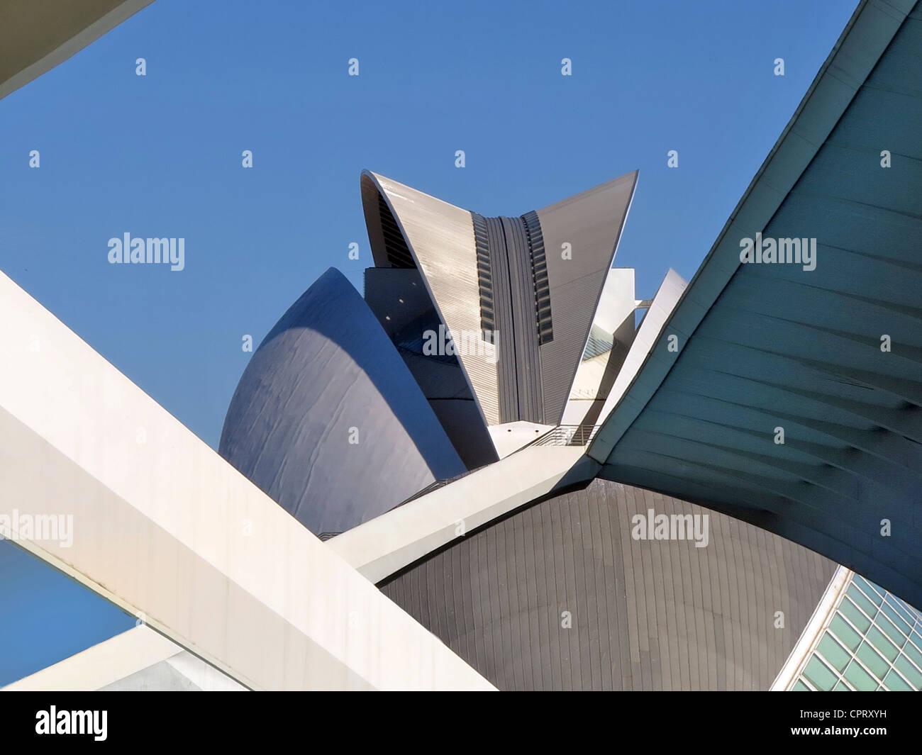 City of Arts and Sciences designed by Santiago Calatrava Valencia, Spain - Stock Image
