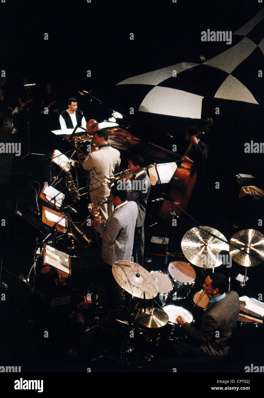 Ibrahim, Abdullah (Brand, Adolphe), * 9.1.1934, South African musician, stage performance with 'Ibrahim Abdullah - Stock Image
