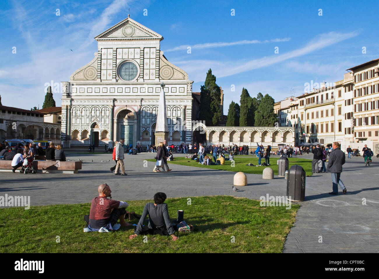 Church of Santa Maria Novella, Firenze, UNESCO World Heritage Site, Tuscany, Italy - Stock Image