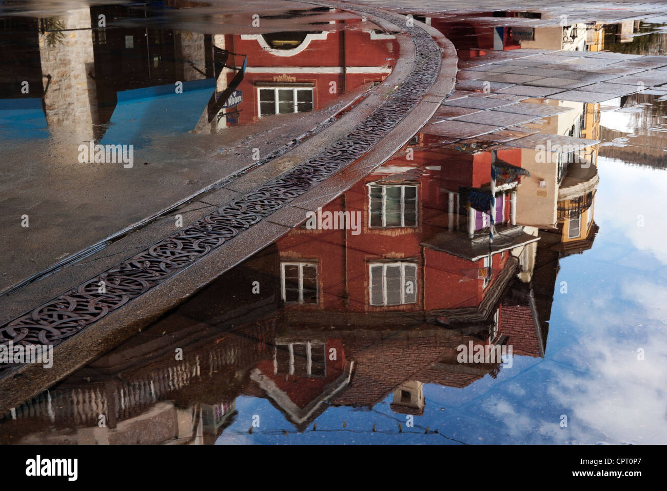 Street Reflections in Lionshead Village - Vail, Colorado USA - Stock Image