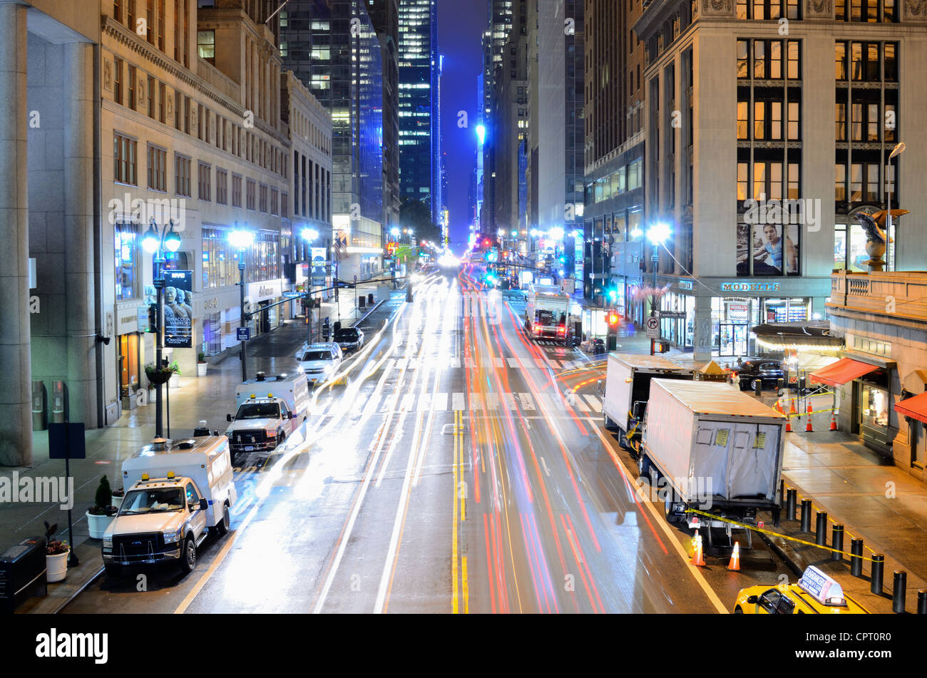 42nd Street in New York, New York. - Stock Image