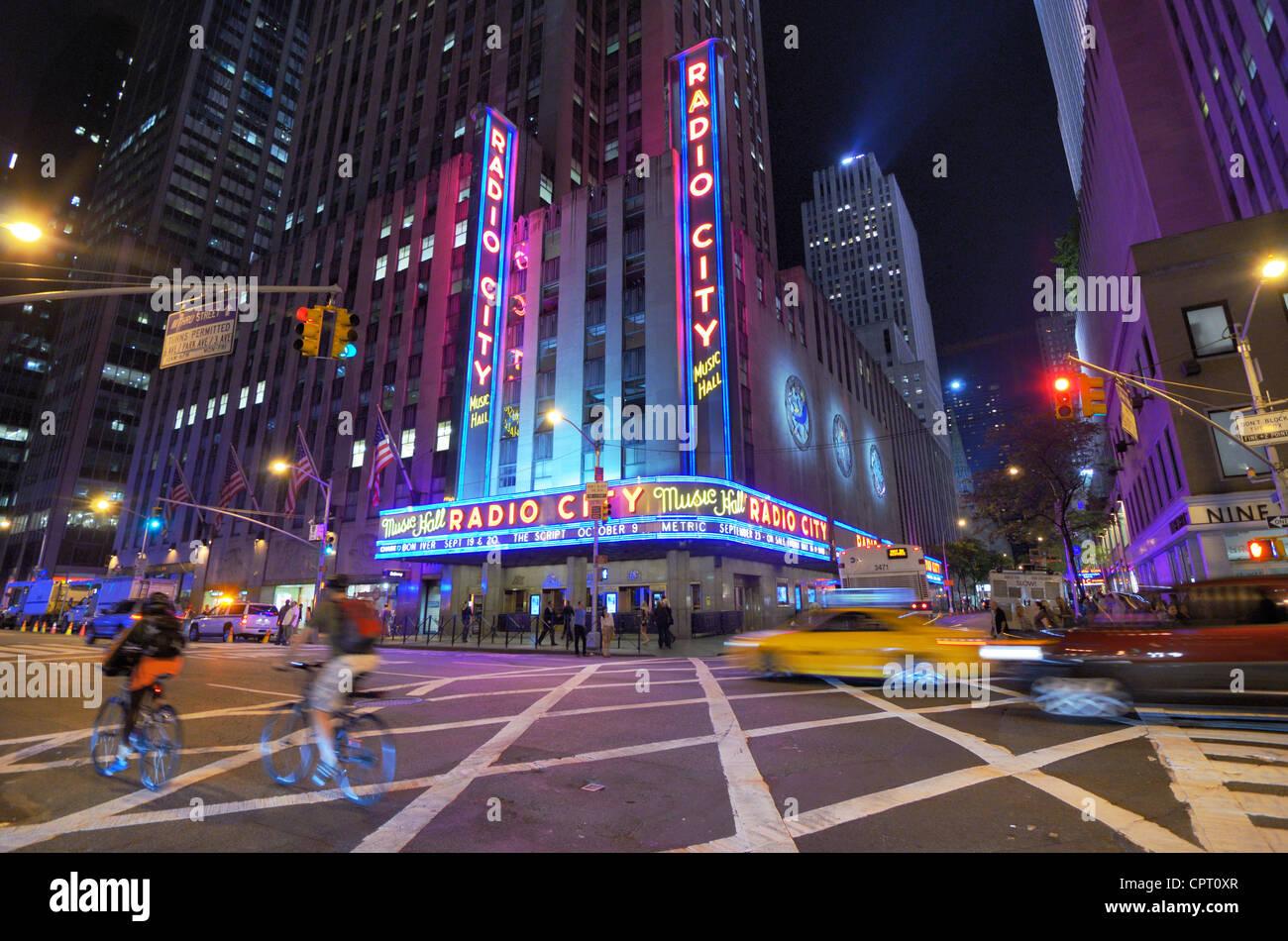 Radio City Music Hall, a famed venue and a New York City landmark. - Stock Image