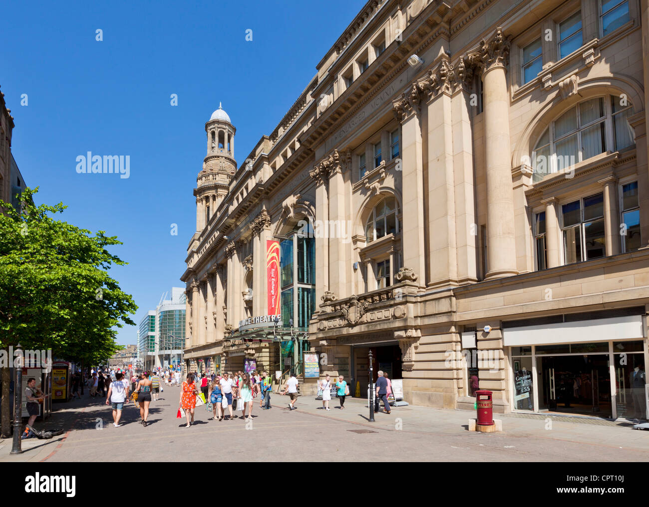 The Royal Exchange Theatre St Anns Square Manchester city centre Greater Manchester England UK GB EU Europe - Stock Image
