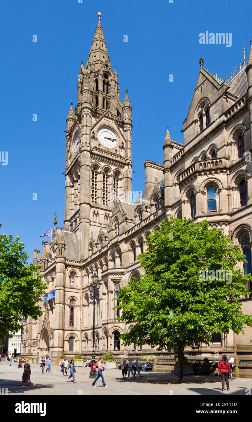 manchester town hall albert square Manchester city centre Greater Manchester England UK GB EU Europe - Stock Image