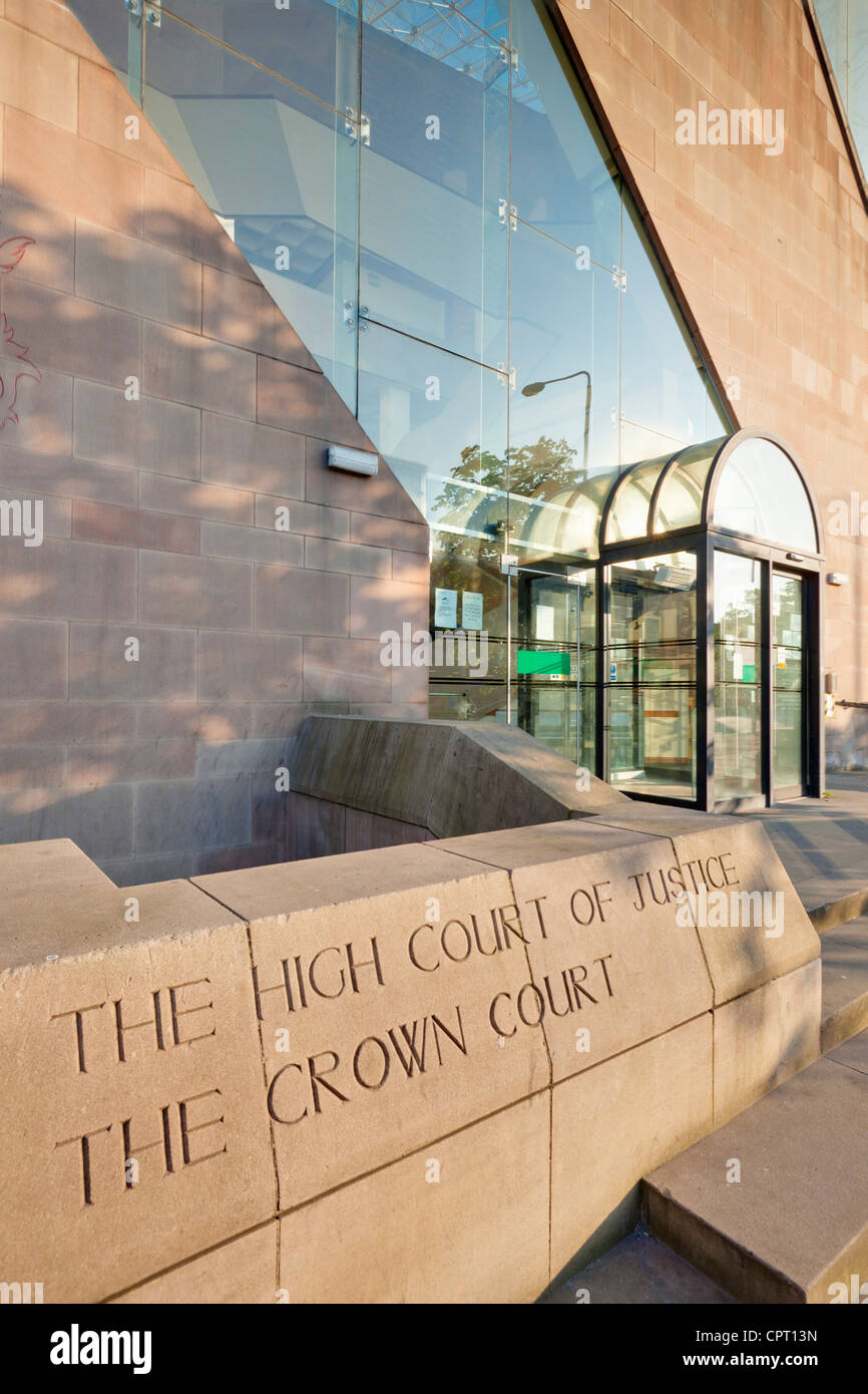 nottingham crown court city centre Nottinghamshire England UK GB EU Europe - Stock Image