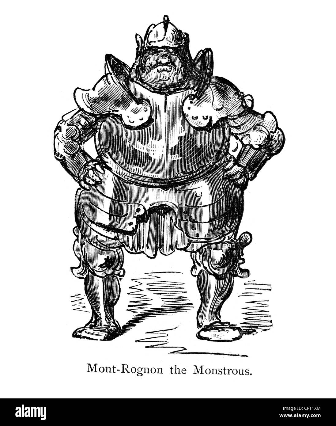 Mont Rognon the Monstrous. Illustration from the Legend of Croquemitaine by Gustave Doré - Stock Image