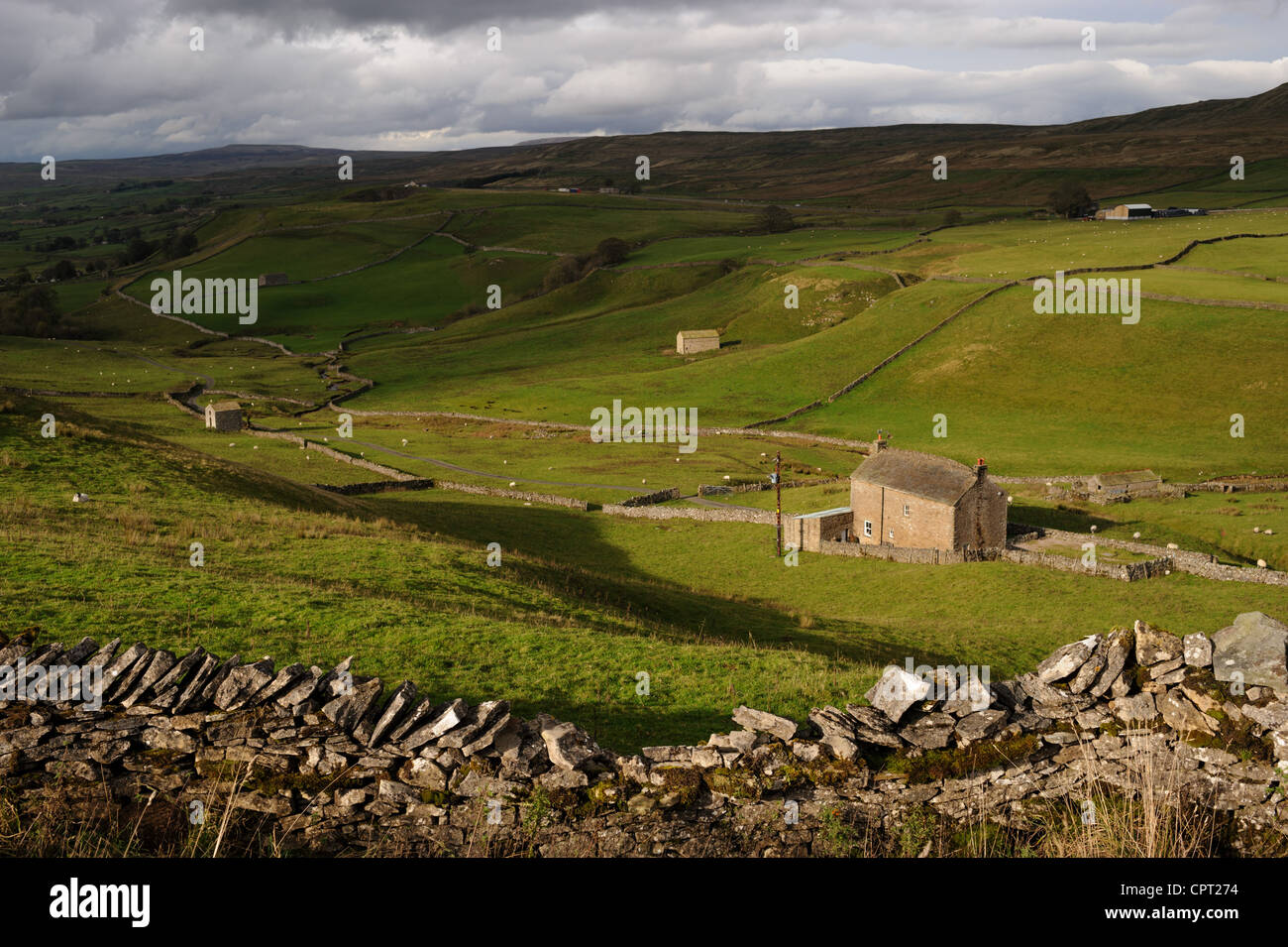 View from North Stainmore towards the Eden Valley and cumbria. United Kingdom - Stock Image