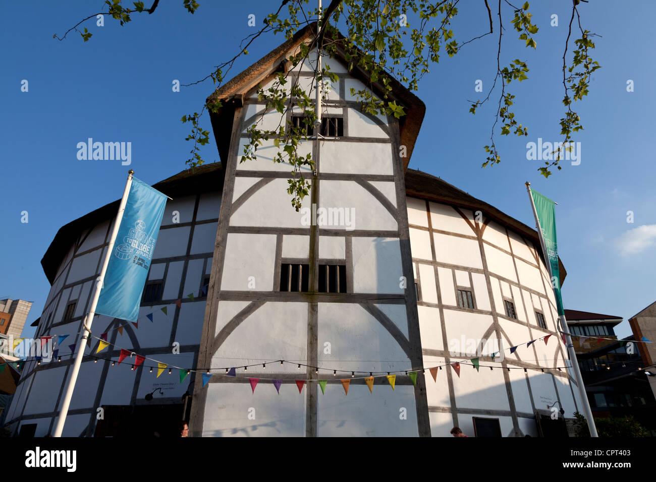 Shakespeare's Globe Theatre reconstruction, Southbank, London, England, UK. - Stock Image