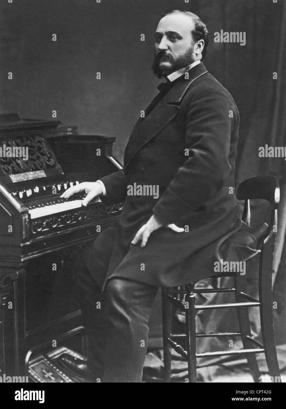 IRA SANKEY (1840-1908) US gospel singer and composer - Stock Image