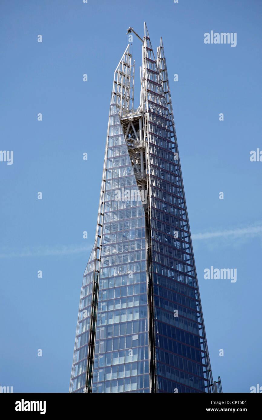Top Of The Shard Skyscraper Aka London Bridge Tower And Glass Windows Office Buildings England