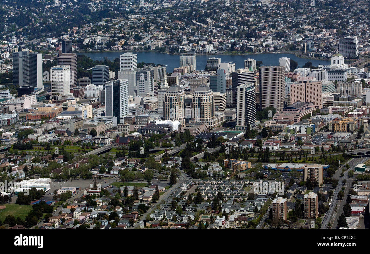 aerial photograph Oakland, California - Stock Image