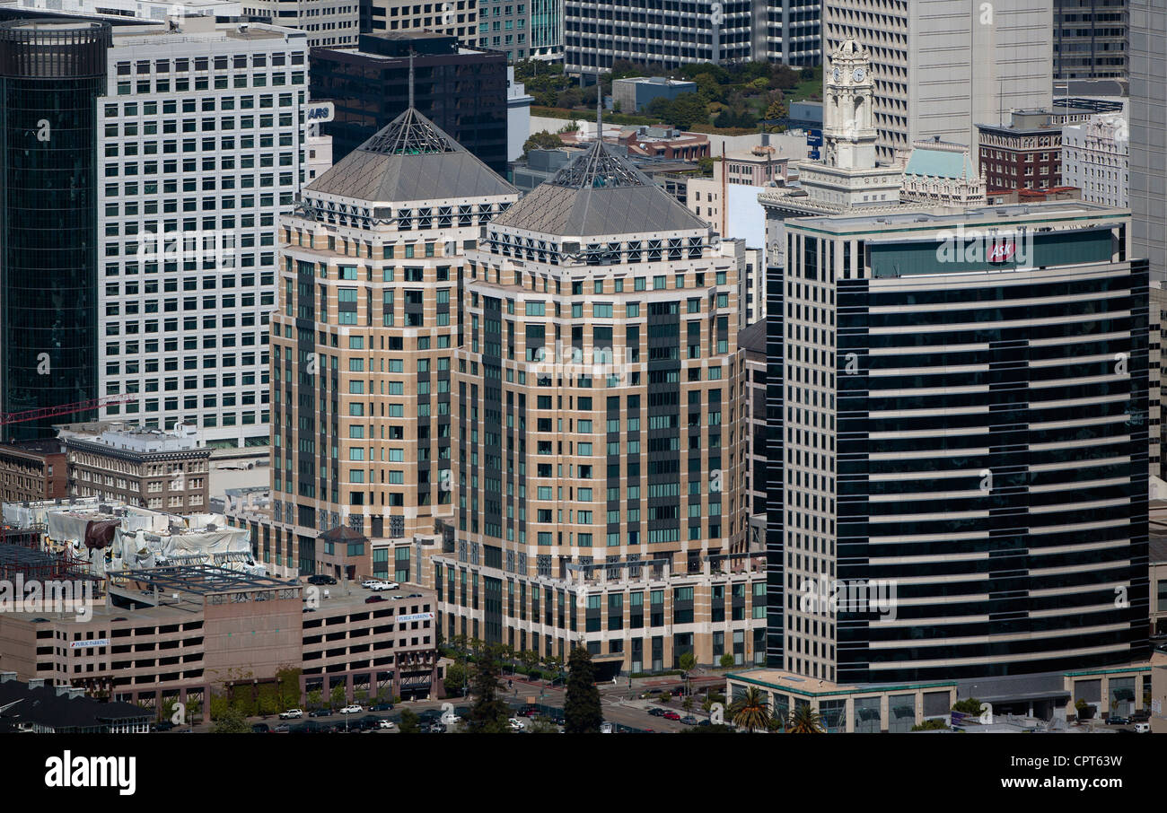 aerial photograph Federal Towers, Ask headquarters, Oakland, California - Stock Image