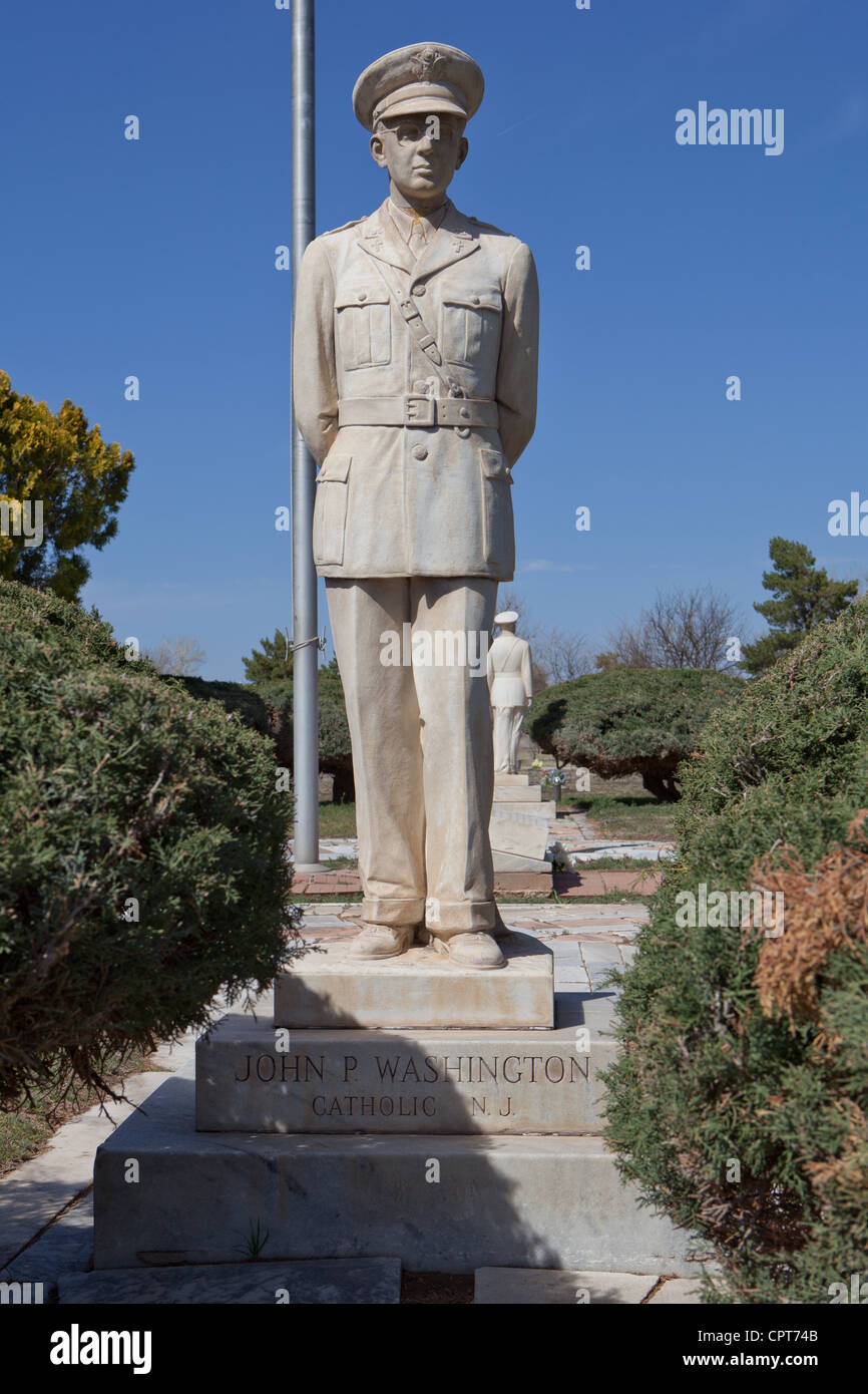 Statue to John P Washington, Llano Cemetery, Amarillo - Stock Image