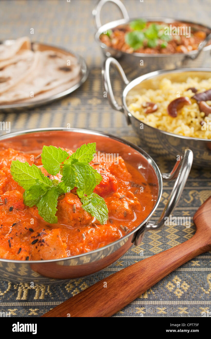 The most popular curry in the UK, chicken tikka masala, - Stock Image