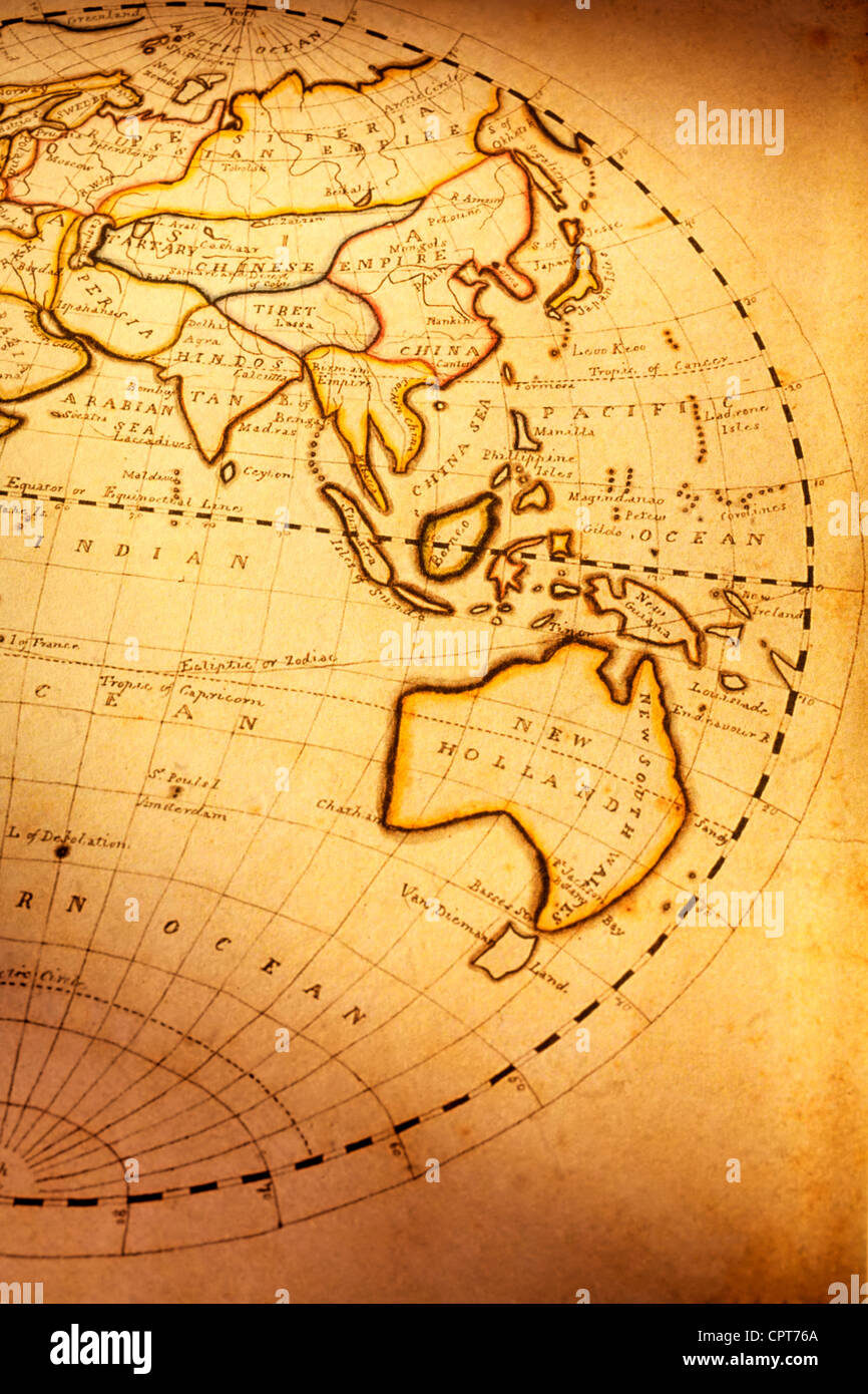 part of old world map showing indian ocean and australia focus is stock photo 48475682 alamy