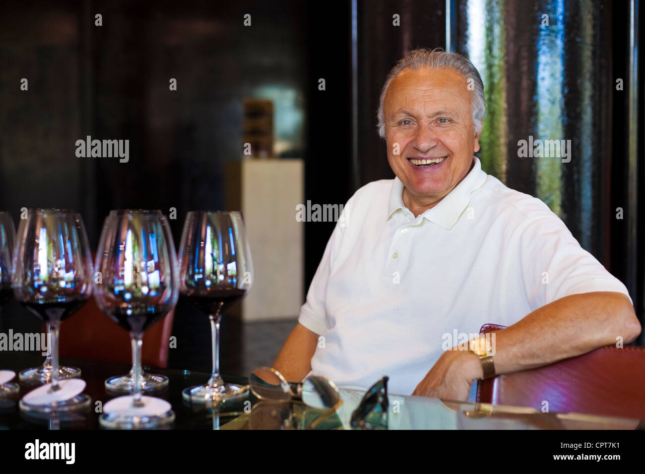 Angelo GAJA, a famous Italian wine-grower , A smiling epicurean