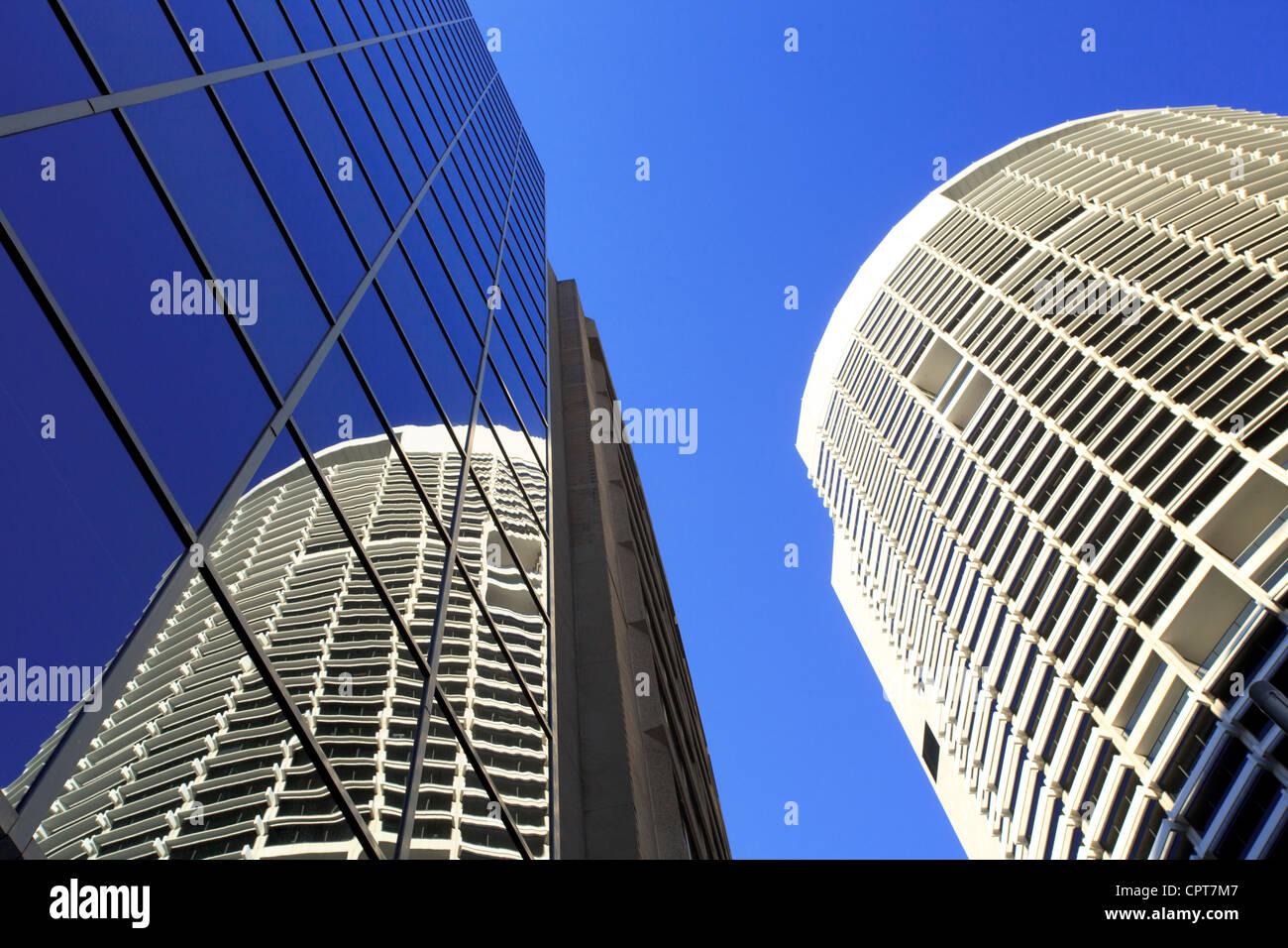 Tall buildings in Sydney's CBD. - Stock Image