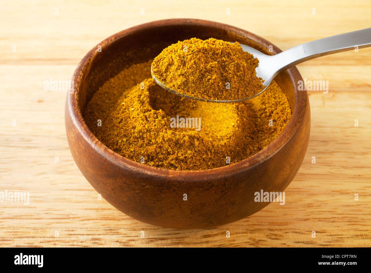 Moroccan spice mix ras el hanout, - Stock Image