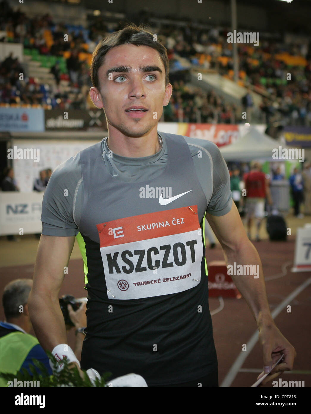 Polish athlet Adam Kszczot pictured during Golden Spike Athletic meeting race 800 m competition on May 25 2012 (CTK - Stock Image