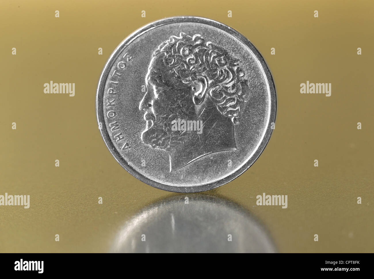 former Greek currency drachma, coin (CTK Photo/Petr Sznapka) - Stock Image