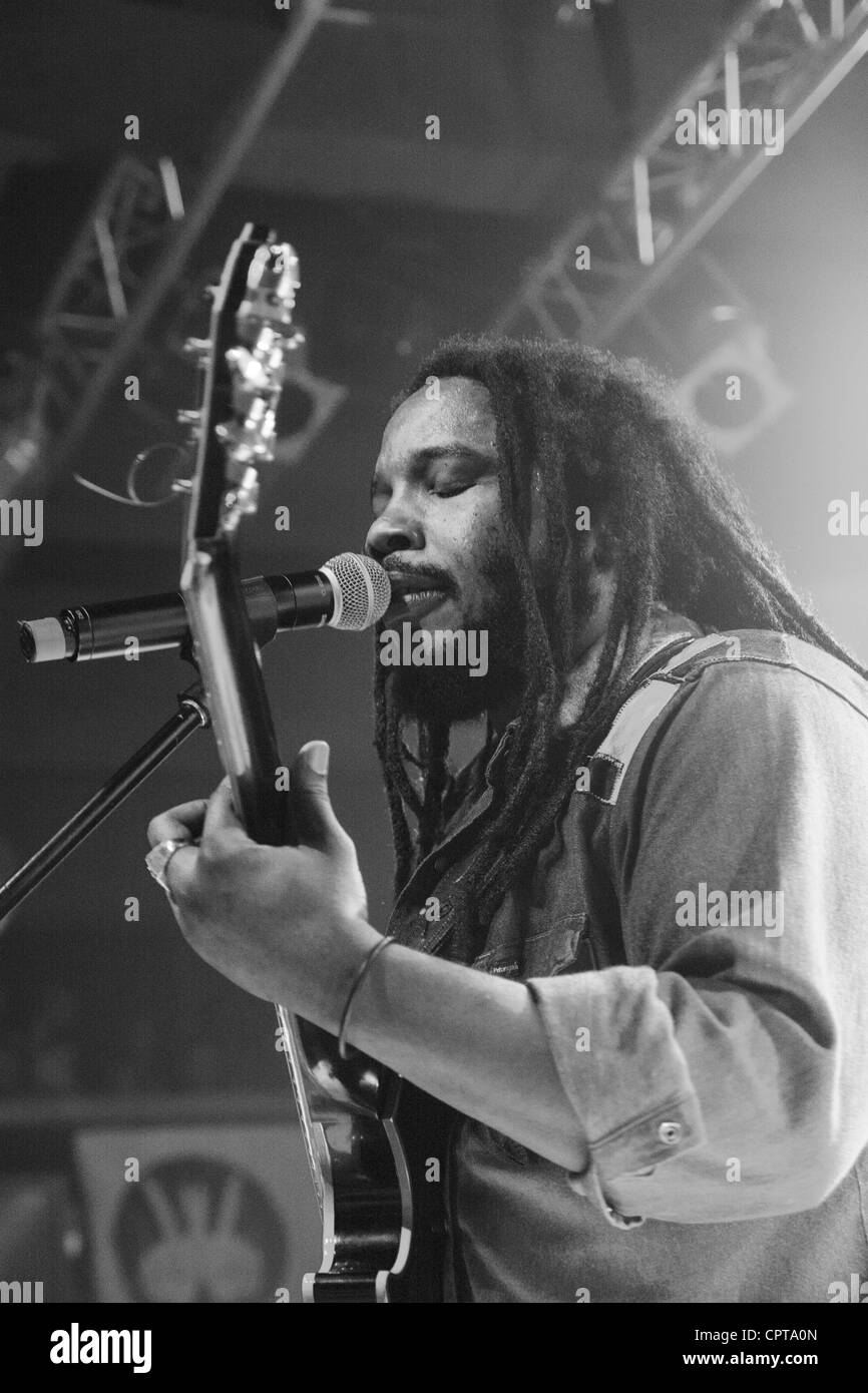 Famous reggae singer composer Stephen Marley played his czech premiere performance in absoltelly sold-out Lucerna - Stock Image