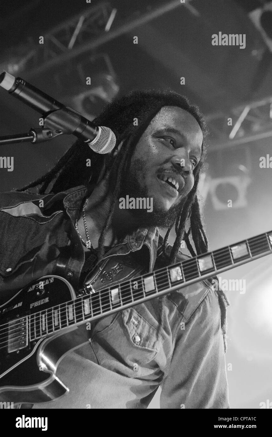 Famous reggea singer composer Stephen Marley played his czech premiere performance in absoltelly sold-out Lucerna - Stock Image