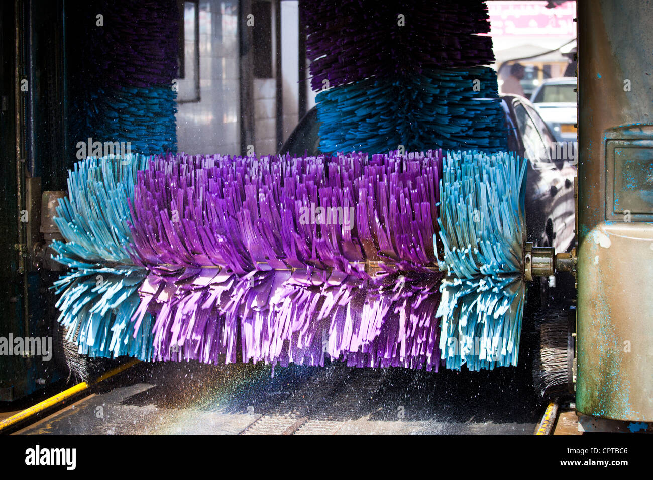 cars in a car-wash - Stock Image