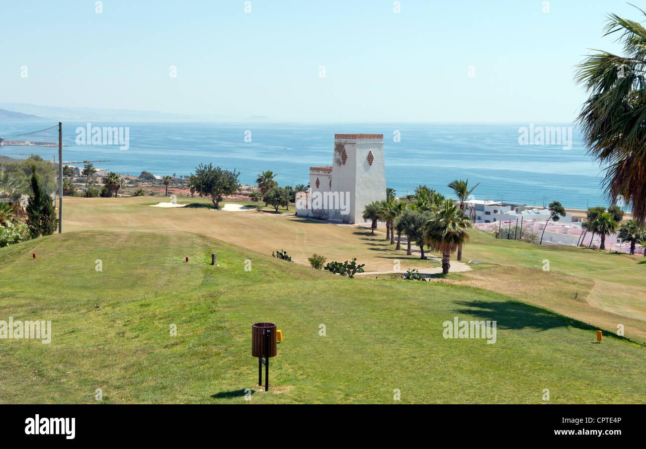 Marina Del Torre Golf Club, Mojacar, Almeria Province, Andalusia, Spain Stock Photo