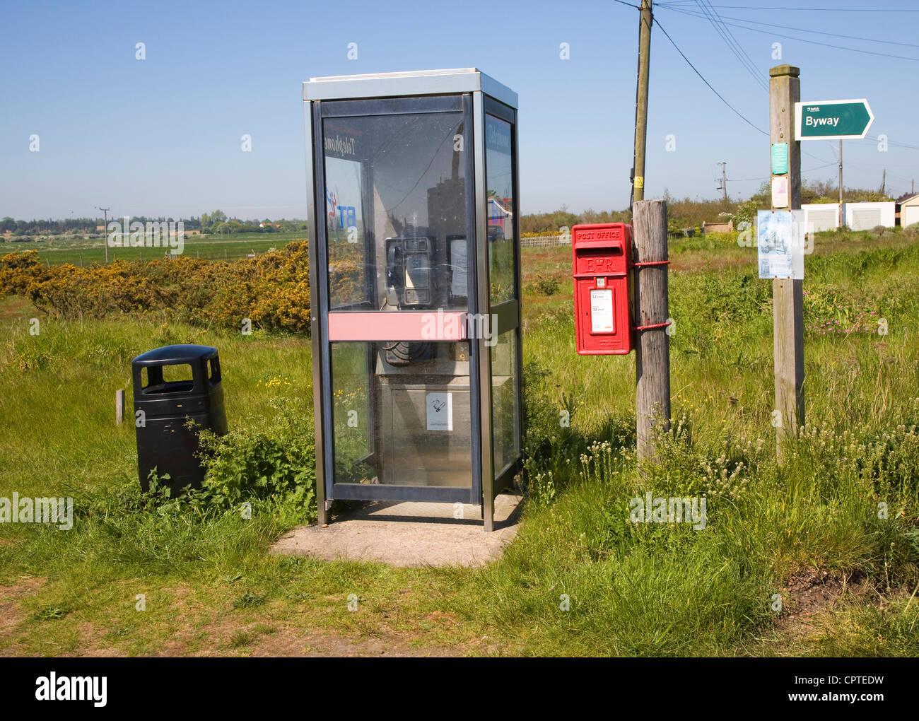 Rural hamlet facilities services Shingle Street, Suffolk, England - Stock Image