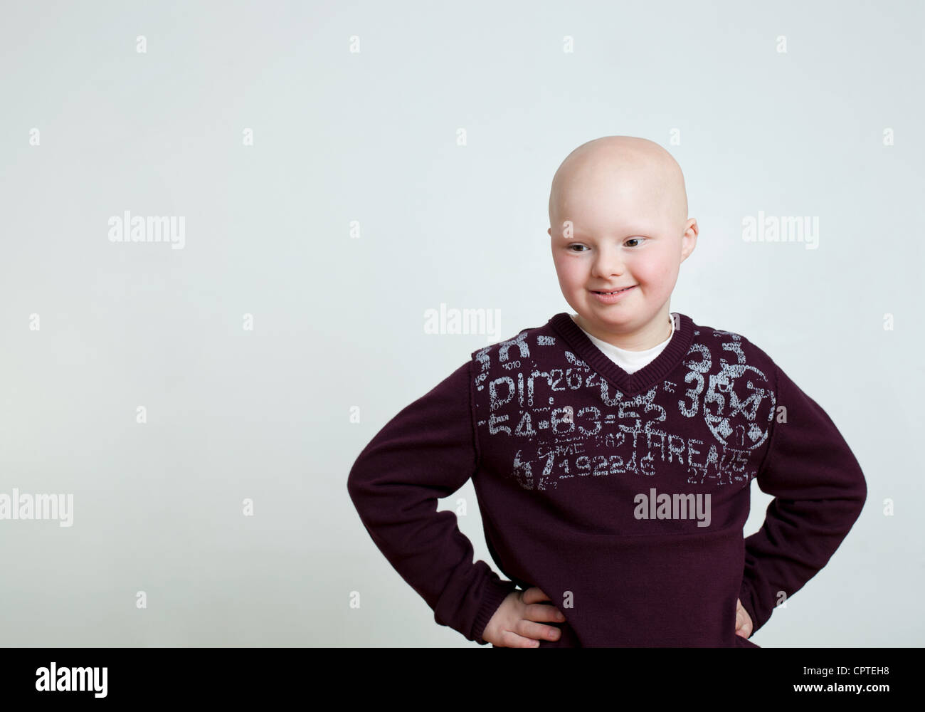 Young boy with Down's Syndrome - Stock Image