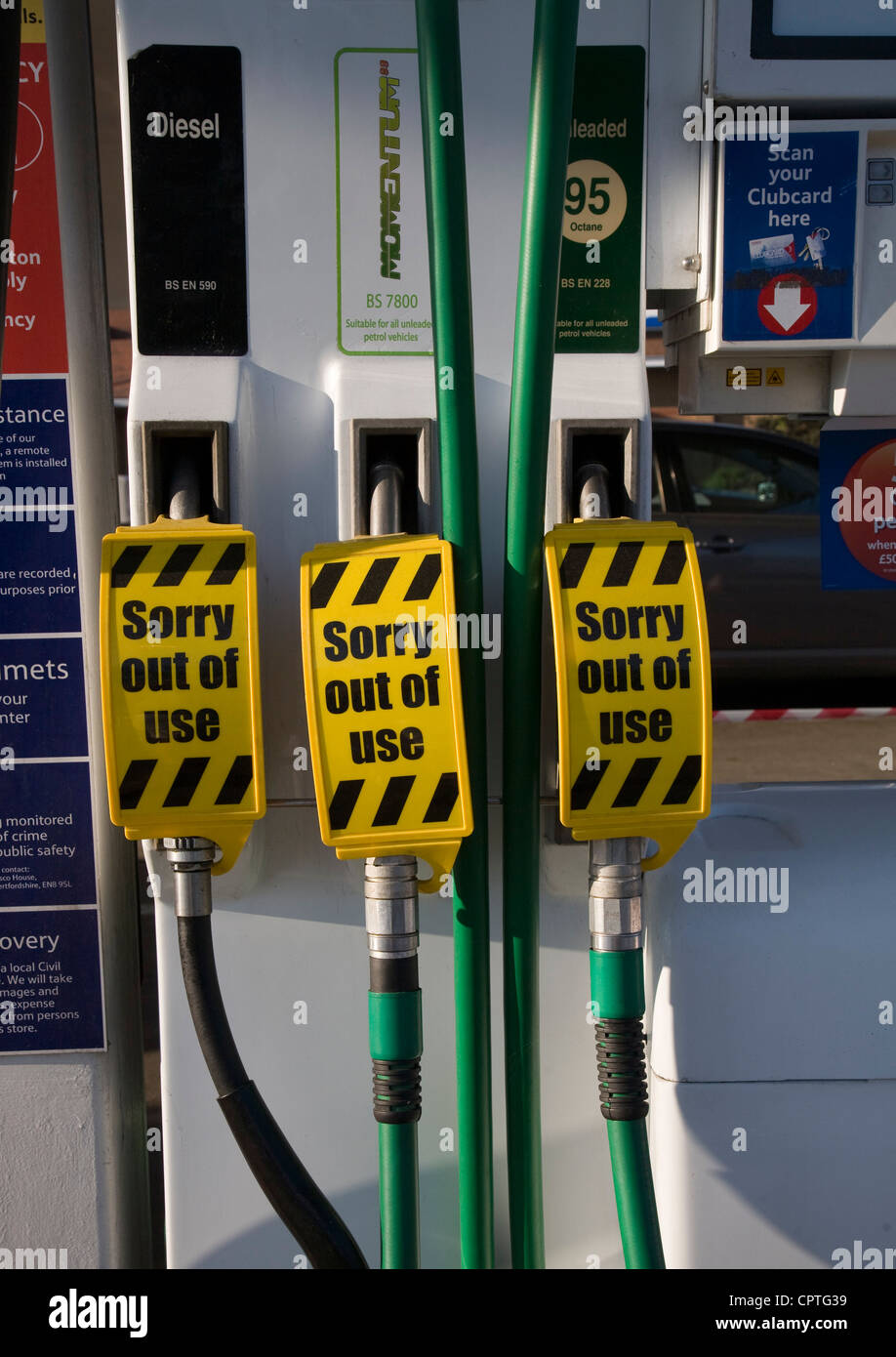 Petrol pumps out of use UK - Stock Image
