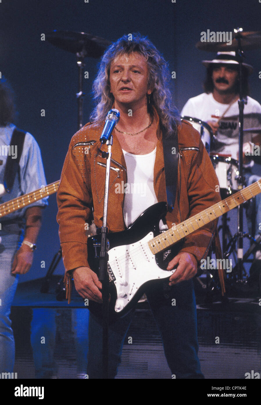 Smokie, British rock group, founded 1974, singer Alan Barton, on stage, 1990s, Additional-Rights-Clearances-NA - Stock Image