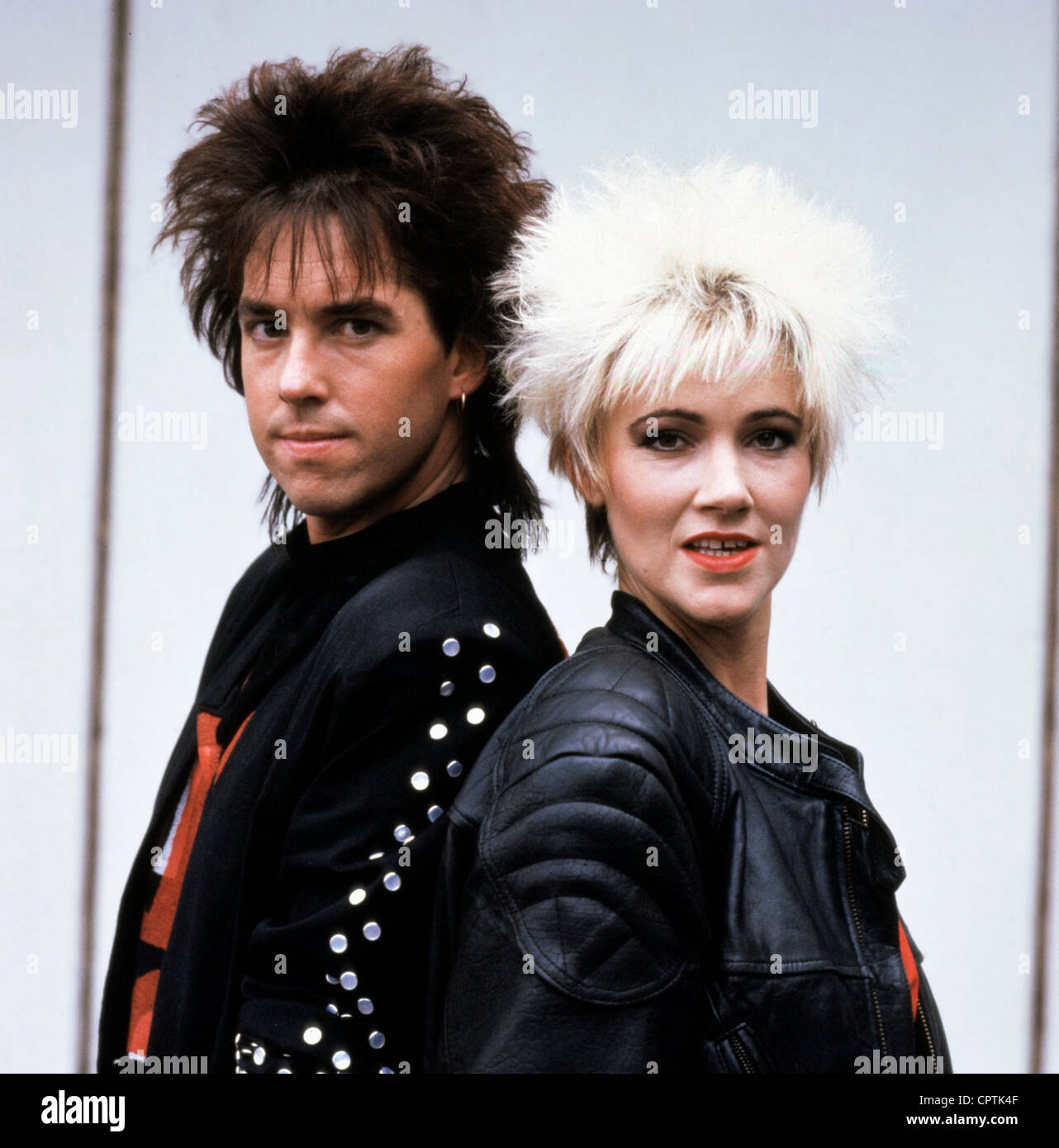 Roxette, Swedish pop band, founded in 1986, Per Gessle, Marie Fredriksson, portrait, September 1989, Additional - Stock Image