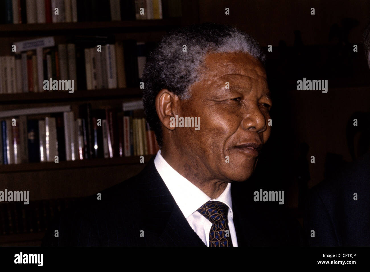 Mandela, Nelson, 18.7.1918 - 5.12.2013, South African politician (ANC), portrait, early 1990s, Additional-Rights - Stock Image