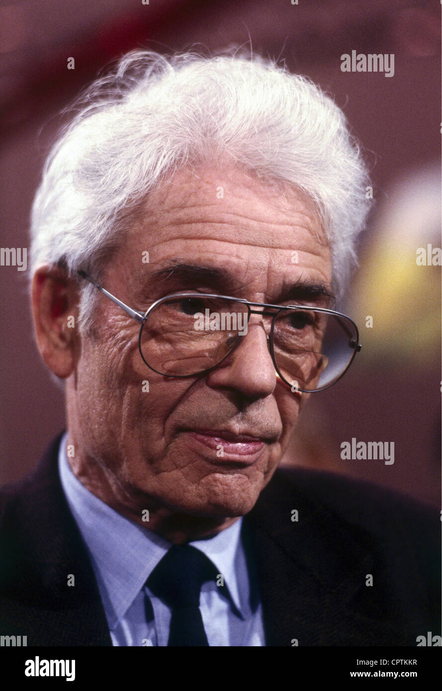Richter, Horst-Eberhard, 28.4.1923 - 19.12.2011, German psychoanalyst, portrait, 1993, Additional-Rights-Clearances - Stock Image