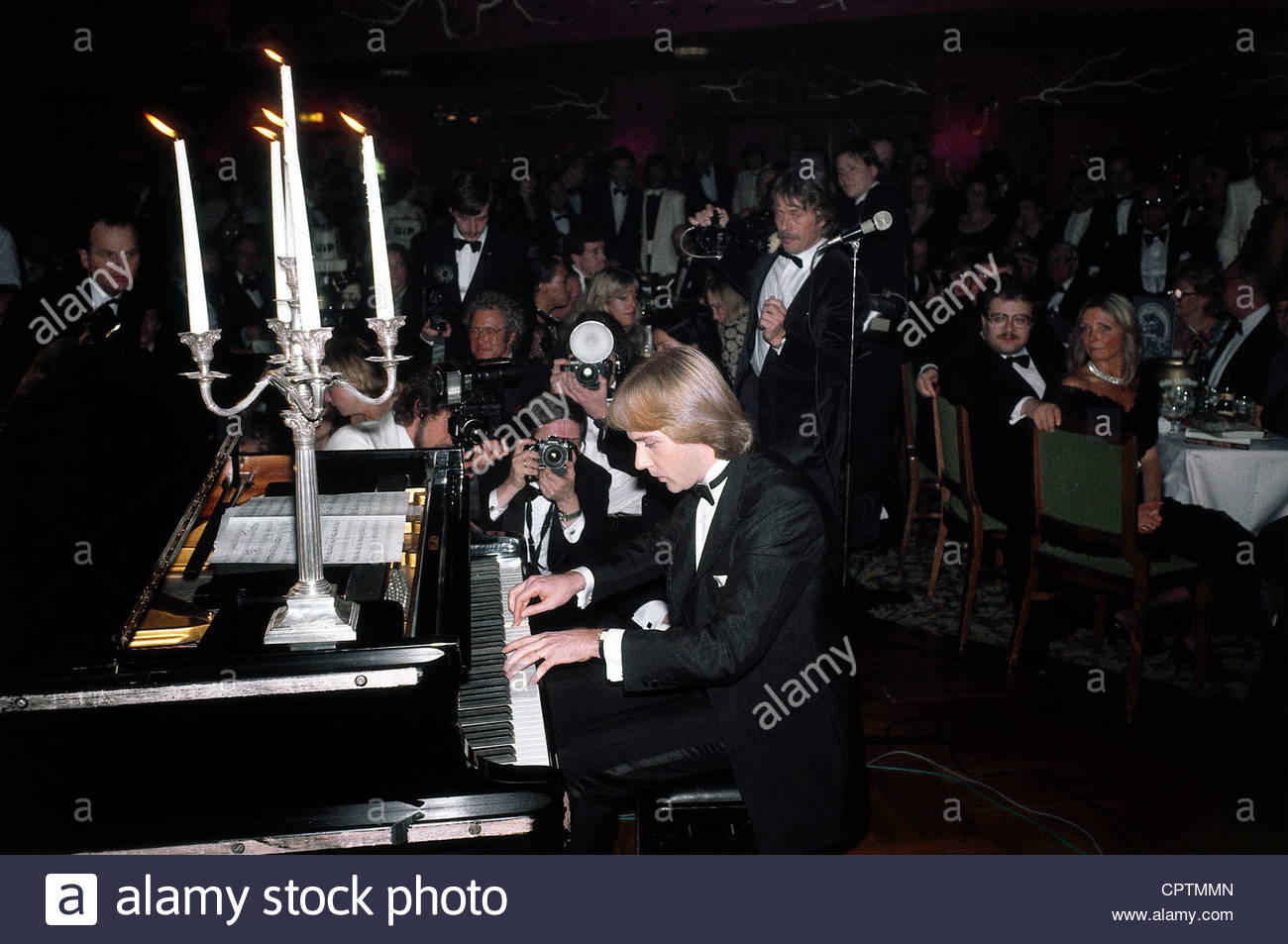 Claydermann, Richard, * 28.12.1953, French pianist, half length, performing, 1983, grand piano, playing, musician, - Stock Image