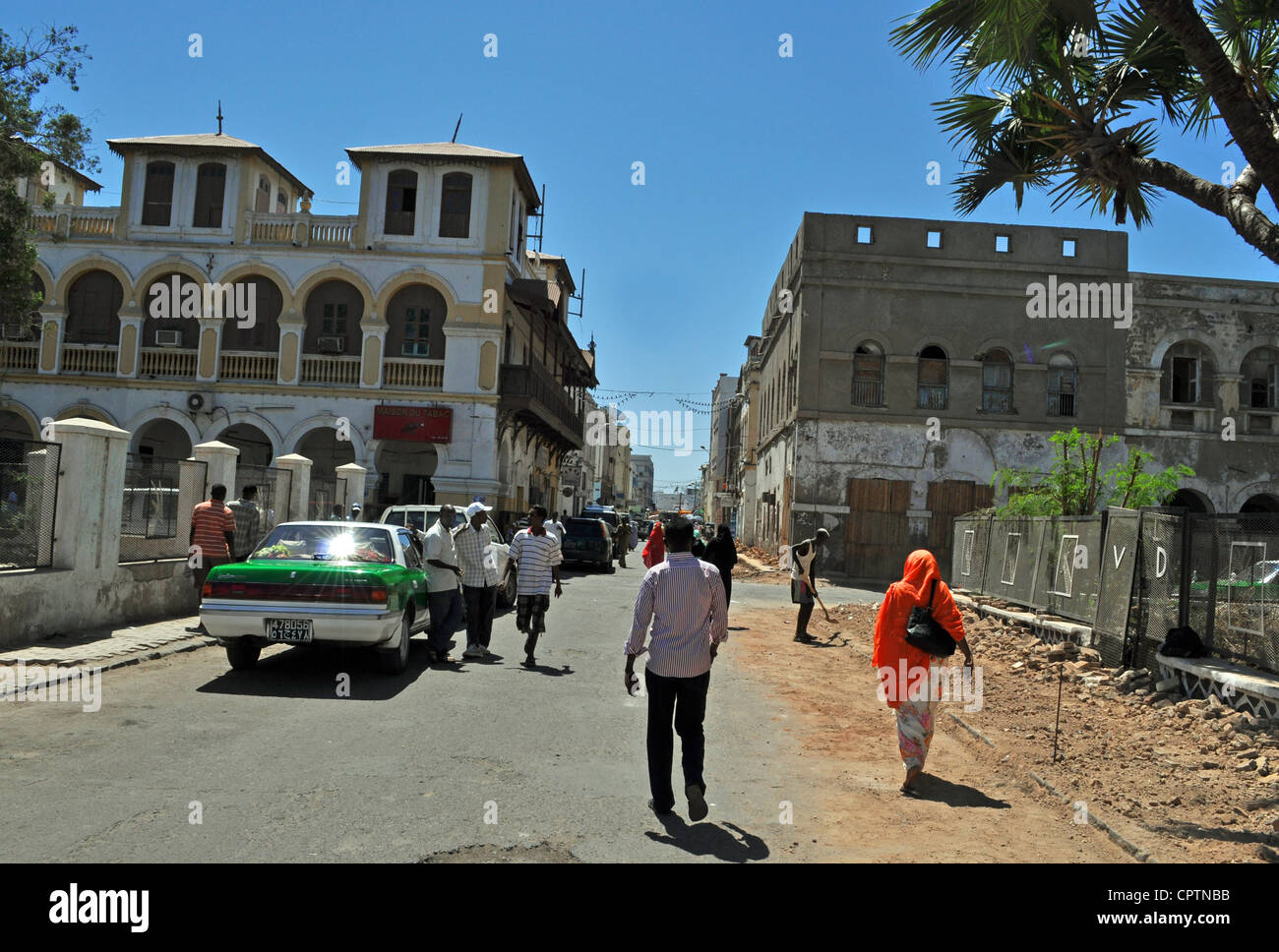 Street scene in Djibouti City, Africa - Stock Image