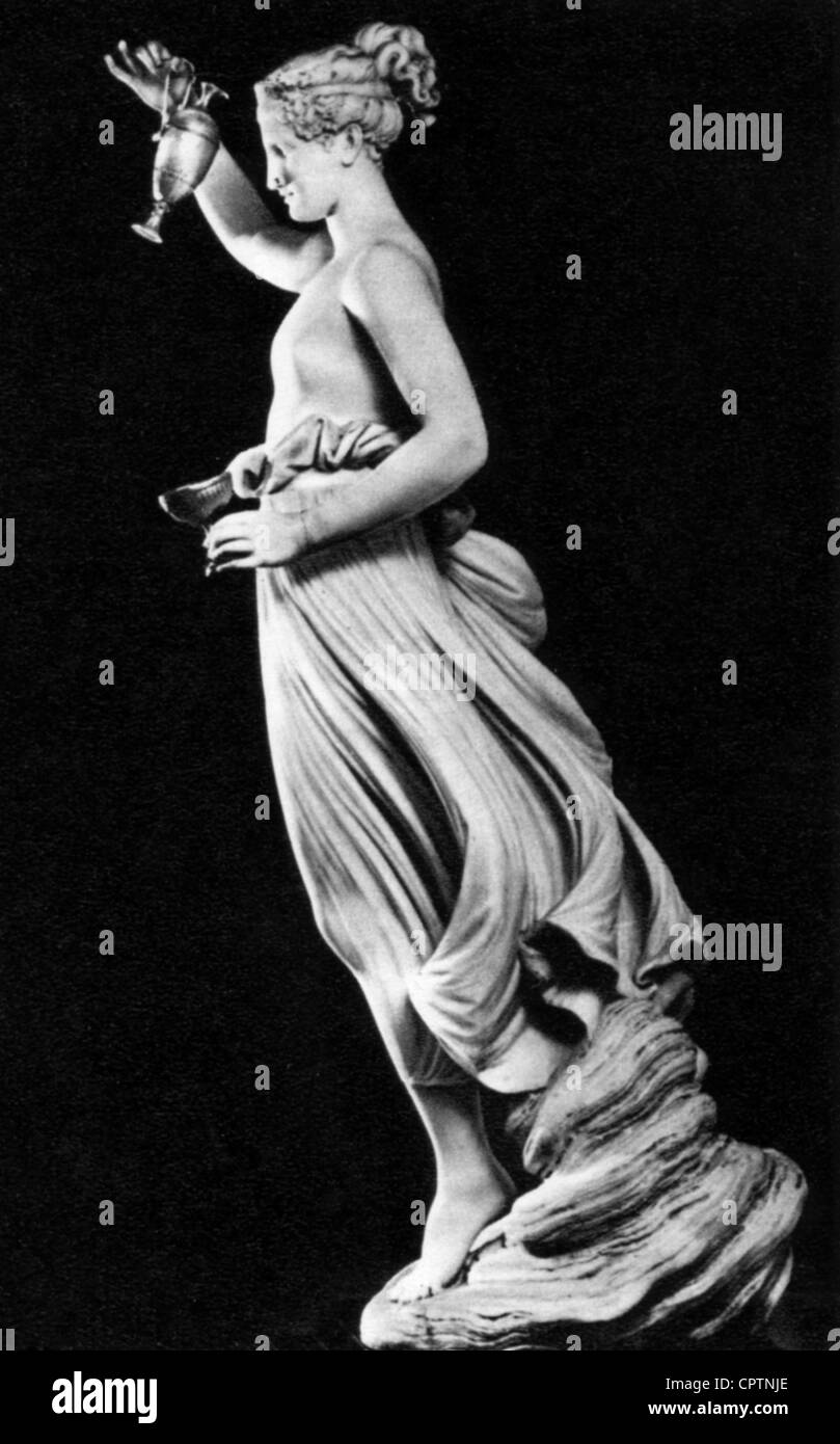 Hebe (Latin: Iuventas), Greek goddess of youth, sculpture by Antonio Canova (1757 - 1822), 1800 - 1805, Hermitage, - Stock Image