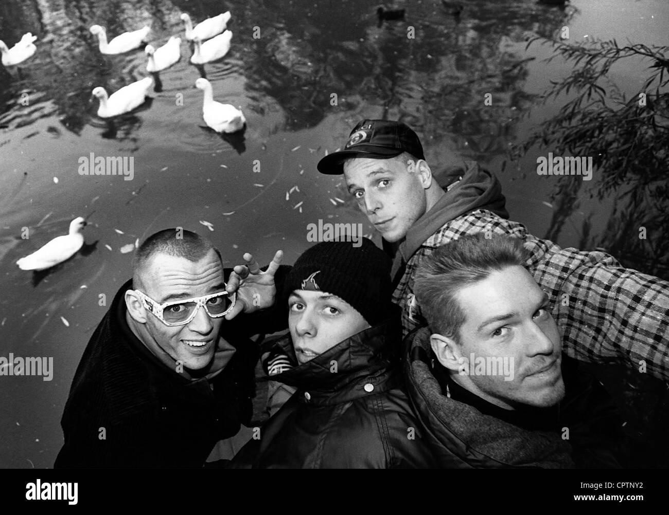 Die Fantastischen Vier, German music group (rap, hip hop), formed in 1986, group picture, 1994, Stock Photo